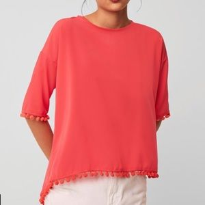 3/$20 French Connection Crepe Pom Pom T-Shirt